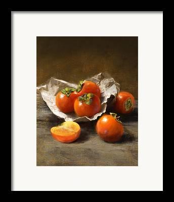 Persimmon Framed Prints
