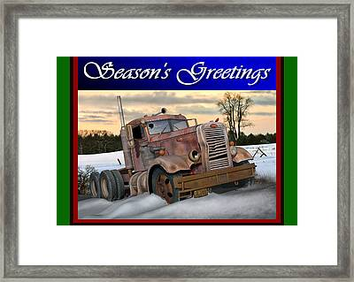 Winter Pete Season's Greetings Framed Print by Stuart Swartz