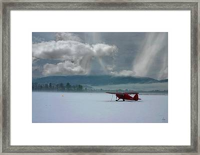 Winter Plane Framed Print