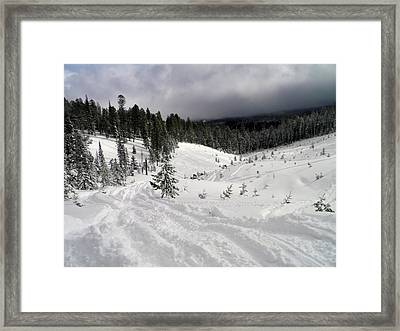 Framed Print featuring the photograph Winter Playground by Meagan  Visser
