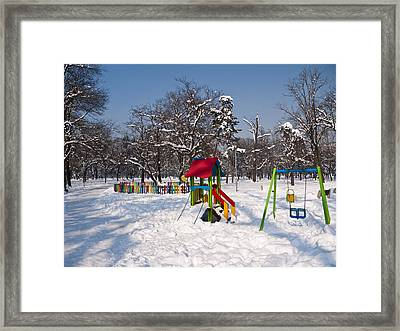 Winter Playground Framed Print by Rae Tucker