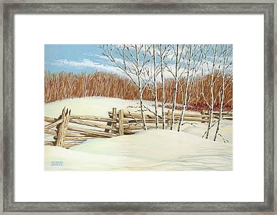 Winter Poplars 2 Framed Print by Richard De Wolfe