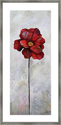 Winter Poppy II Framed Print by Shadia Derbyshire