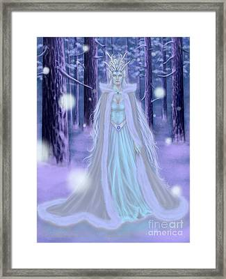 Winter Queen Framed Print by Amyla Silverflame