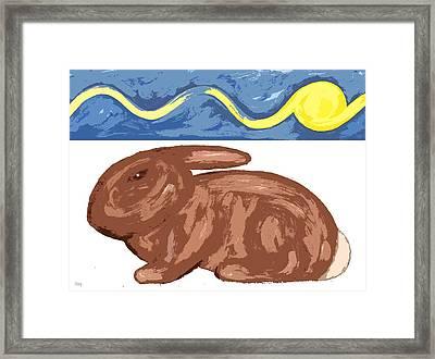Winter Rabbit Framed Print by Patrick J Murphy