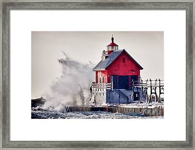 Winter  Rage Framed Print