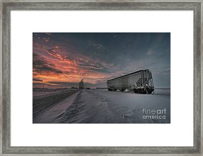 Winter Rail Car Framed Print by Ian McGregor