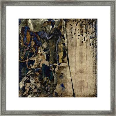Winter Rains Series Five Of Six Framed Print by Carol Leigh