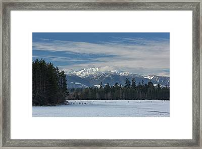 Framed Print featuring the photograph Winter by Randy Hall