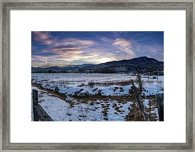 Sunset Range Framed Print