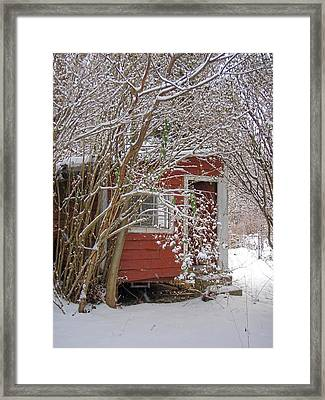 Winter Reading Room Framed Print by Kristine Nora