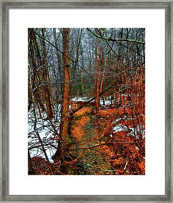 Winter Recedes Framed Print by Michael Putnam