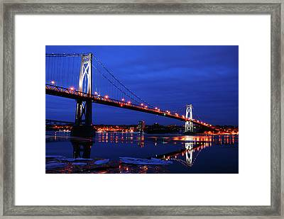 Winter Refelctions Framed Print by James Kirkikis