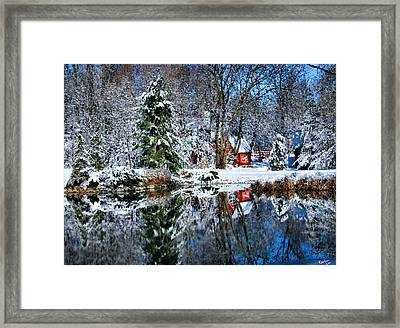 Winter Reflection Framed Print by Kristin Elmquist