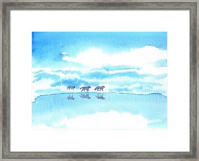 Winter Reflection Framed Print