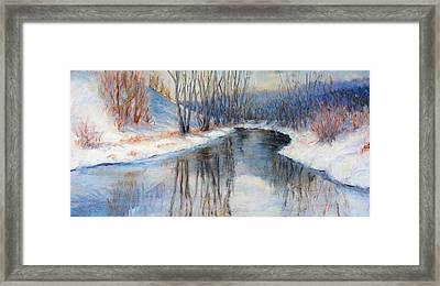 Winter Reflection Framed Print by Ruth Mabee