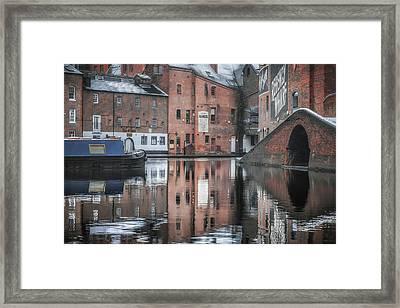 Winter Reflections At Gas Street Basin Framed Print by Chris Fletcher