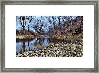 Winter Reflections Framed Print by Cricket Hackmann