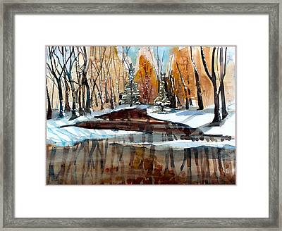Winter Reflections Framed Print by Mindy Newman
