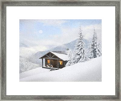 Winter Retreat Framed Print by James Charles