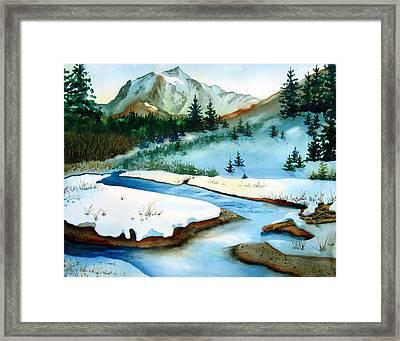 Winter Retreating Framed Print by Karen Stark