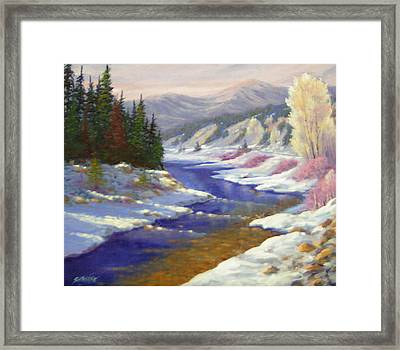 Winter Revisited  070712-97 Framed Print by Kenneth Shanika