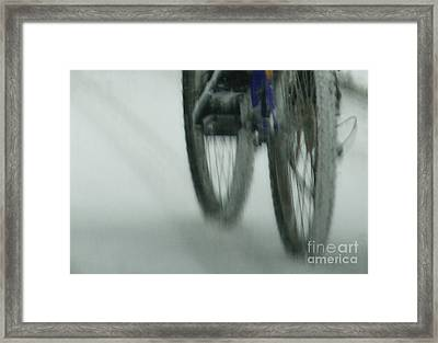 Winter Ride Framed Print