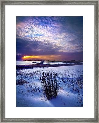 Winter Rising Framed Print by Phil Koch