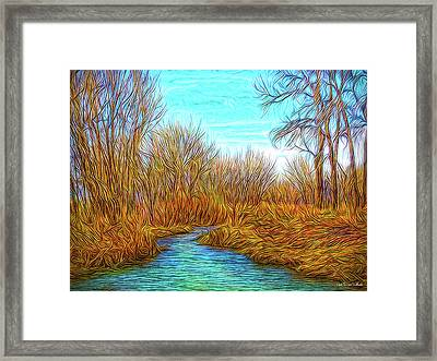 Winter River Breeze Framed Print