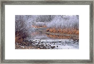 Winter River Framed Print by Bruce Gilbert