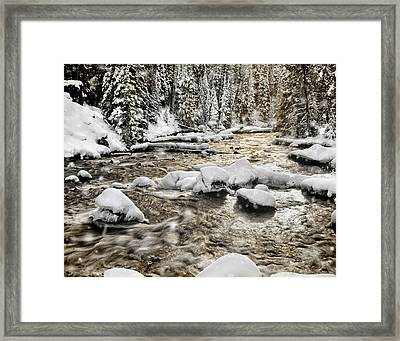 Winter River Framed Print by Leland D Howard