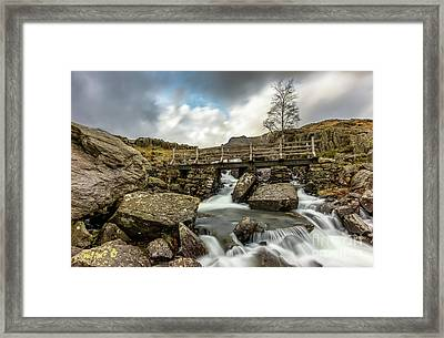 Winter River Rapids Framed Print