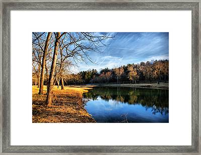 Framed Print featuring the photograph Winter River by Rick Friedle
