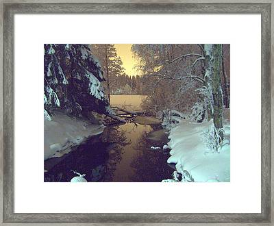 Framed Print featuring the photograph Winter River by Sami Tiainen