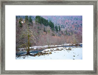 Winter Riverside Framed Print by Svetlana Sewell