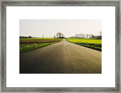 Winter Road Ground Level Framed Print