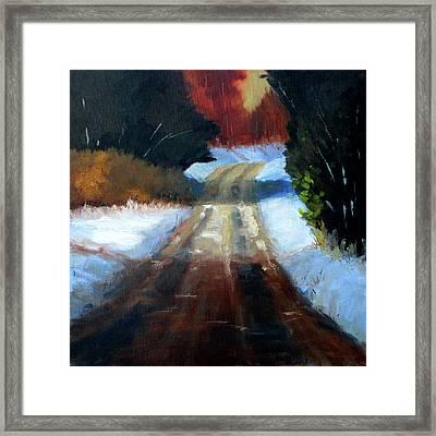 Winter Road Landscape Framed Print