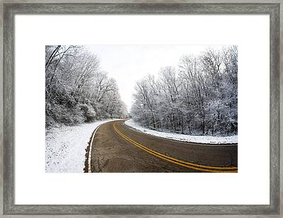 Winter Road Framed Print by Todd Klassy