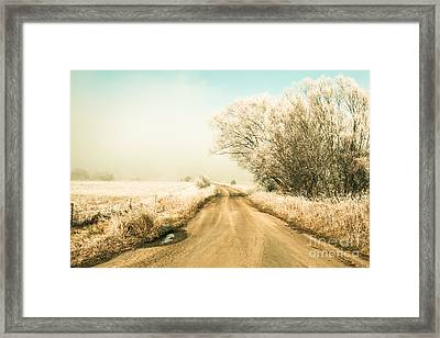 Winter Road Wonderland Framed Print