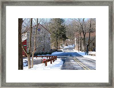 Winter Roads Framed Print