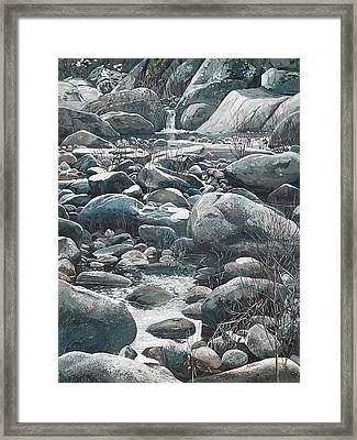 Winter Rocks Framed Print by Nadi Spencer