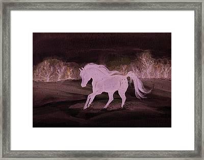 Winter Run Framed Print by Darlene Watters