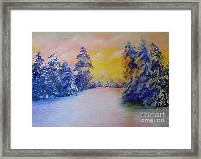 Framed Print featuring the painting Winter by Saundra Johnson