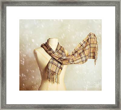 Winter Scarf Framed Print