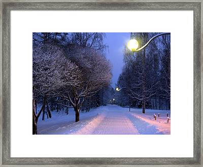Framed Print featuring the photograph Winter Scene 4 by Sami Tiainen
