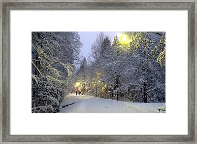 Framed Print featuring the photograph Winter Scene 5 by Sami Tiainen