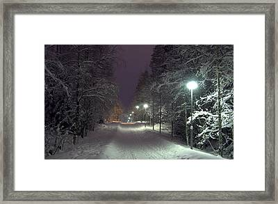 Framed Print featuring the photograph Winter Scene 6 by Sami Tiainen