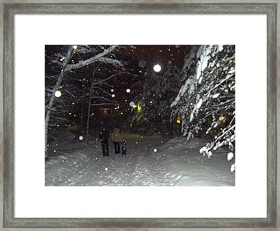 Framed Print featuring the photograph Winter Scene 7 by Sami Tiainen