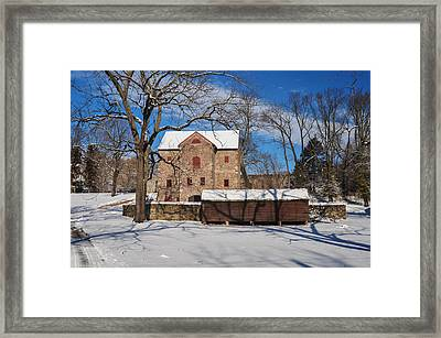 Winter Scene - Highland Farms Framed Print by Bill Cannon