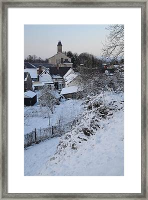 Framed Print featuring the photograph Winter Scene In North Wales by Harry Robertson